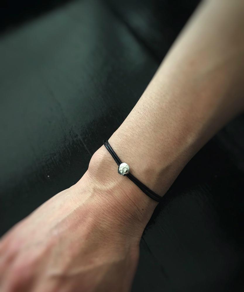 28vingt-huit 779 ナンバー 数字 紐ブレスレット ワックスコード ペア プラチナ900,ヴァンユィット Number Wax Cord Bracelet pt900 Mens