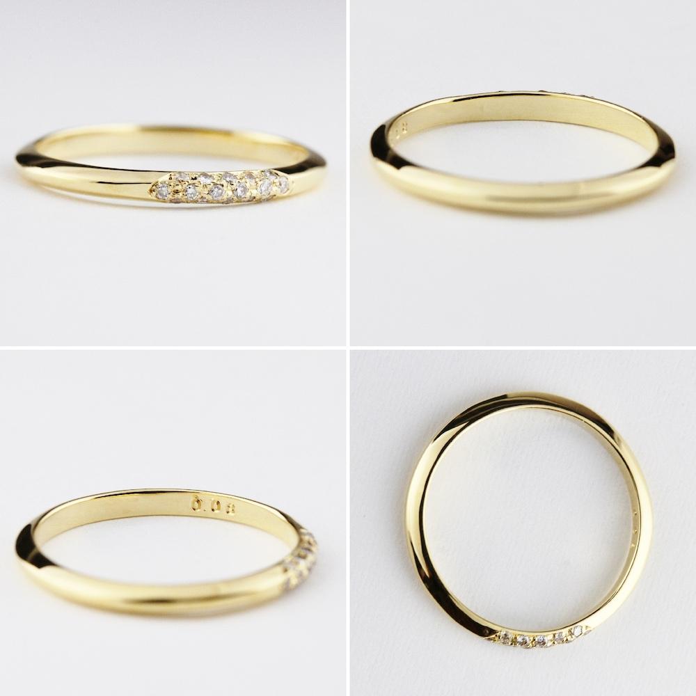 2ply 161 アーベイン ダイヤモンド リング 18金,Urbane Diamond Ring K18