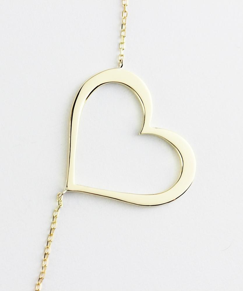 トゥー プライ 167 バウンシング ハート ロング ネックレス 18金,two ply Bouncing Heart Long Necklace K18