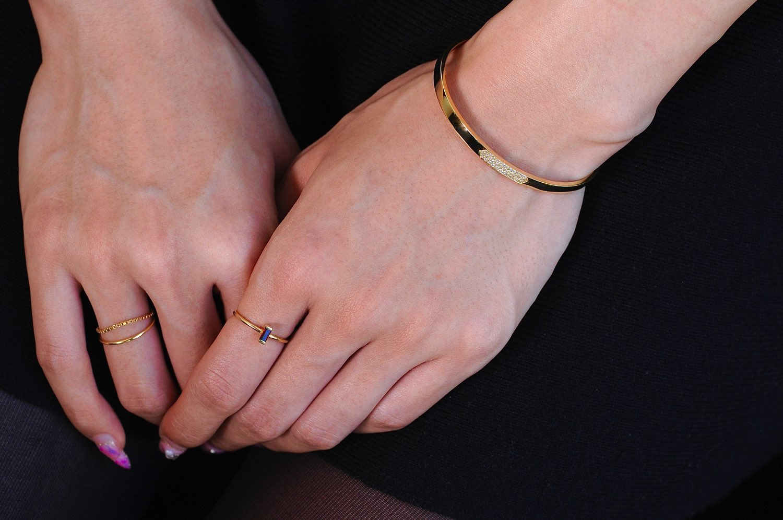 トゥー プライ 585 リュクス ダイヤモンド ゴールド バングル 18金,two ply Luxe Diamond Gold Bangle K18