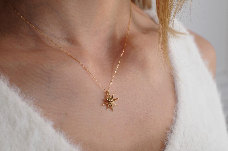 トゥー プライ 589 ポラリス 北極星 ゴールド ネックレス 18金,two ply Polaris Gold Necklace K18