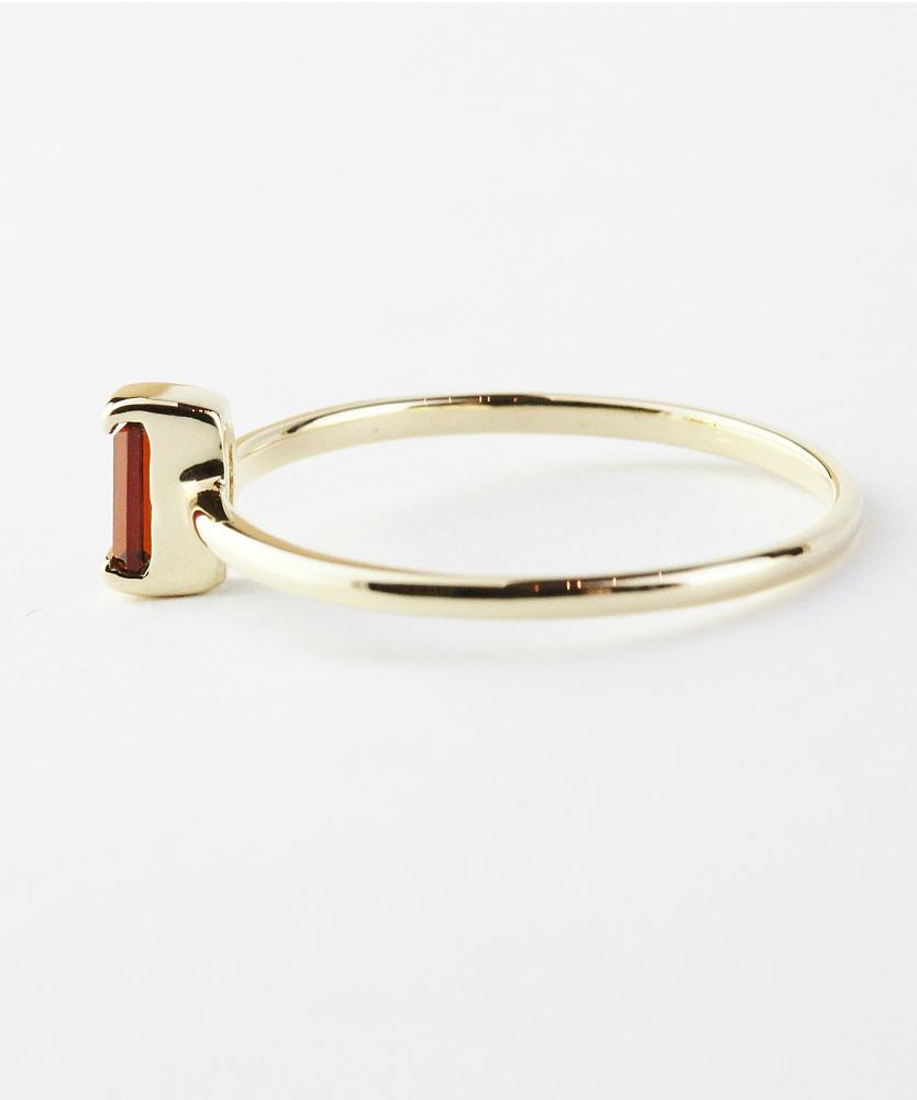 トゥー プライ 606 ガーネット バケットカット 華奢リング ピンキーリング 18金,two ply  Precious Stone Garnet Ring Pinky Ring K18