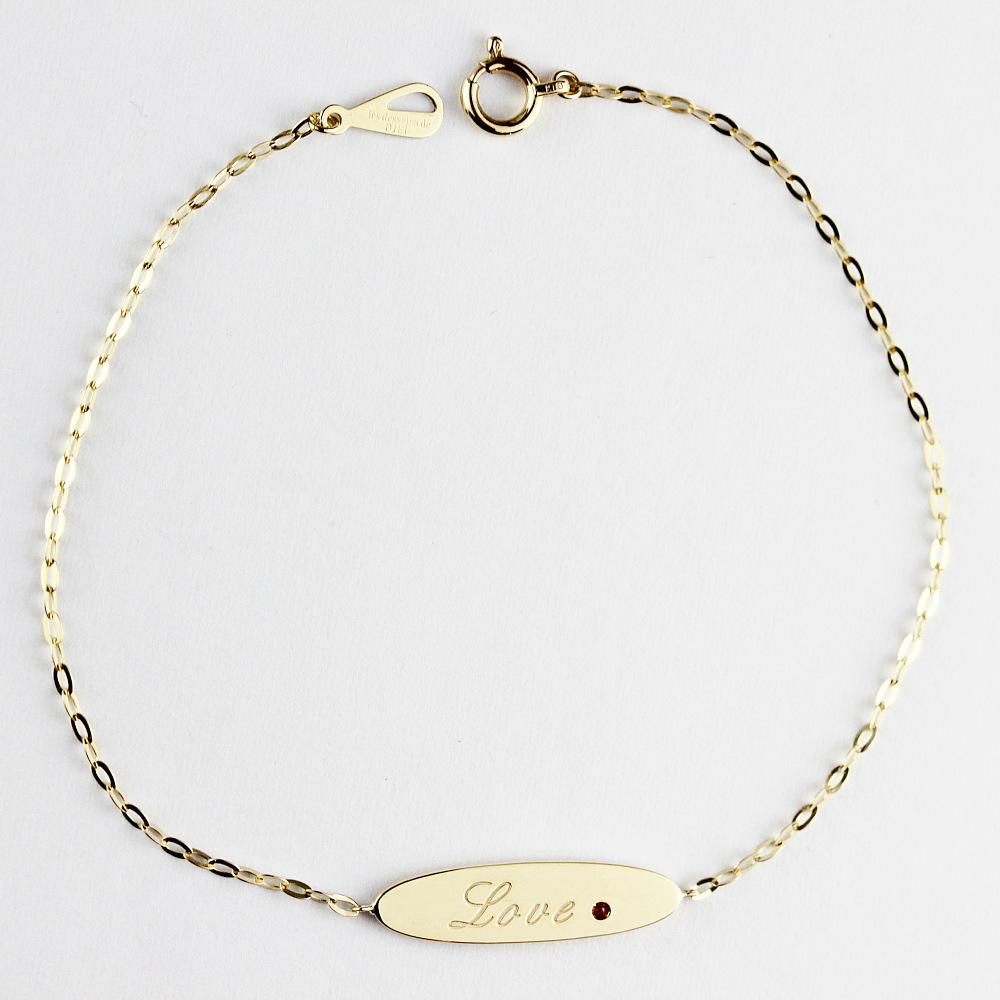 トゥー プライ 619 パーソナライズ イニシャル ナンバー オーバル バー ブレスレット 18金,two ply Personalized Oval Bar Bracelet K18