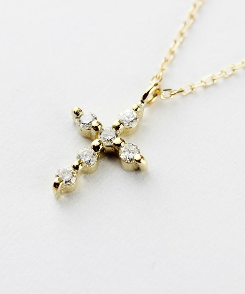 トゥー プライ 625 シマー ダイヤモンド クロス ネックレス 18金,two ply Shimmer Diamond Cross Necklace K18