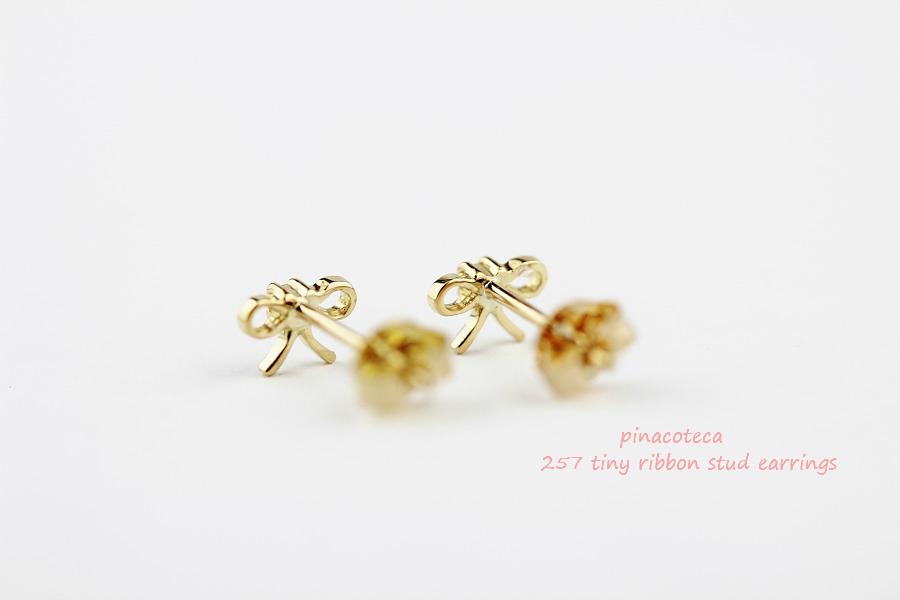 ピナコテーカ 257 タイニー リボン スタッド ピアス 18金,pinacoteca Tiny Ribbon Stud Earrings K18