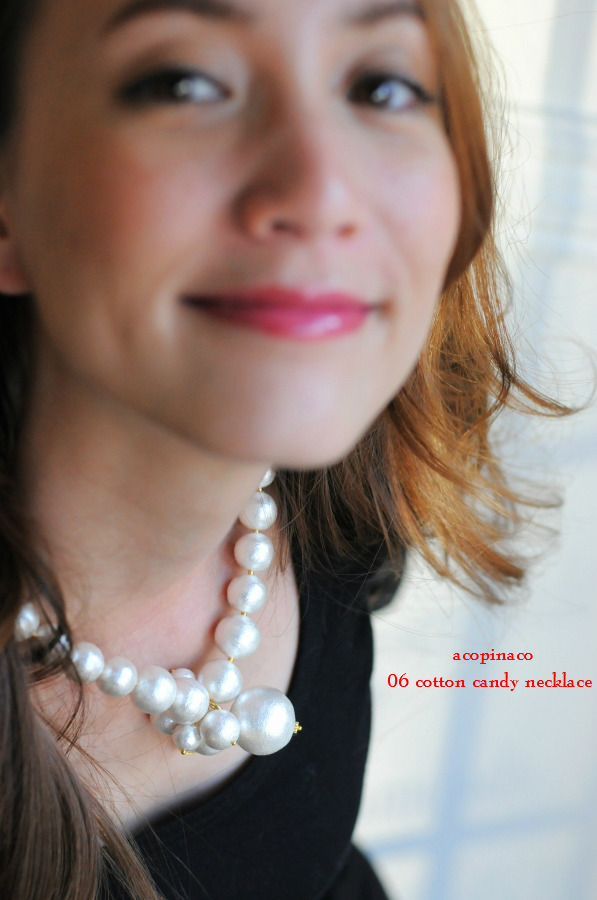 acopinaco 06 cotton candy necklace コットンパール ビジュー ネックレス アコピナコ