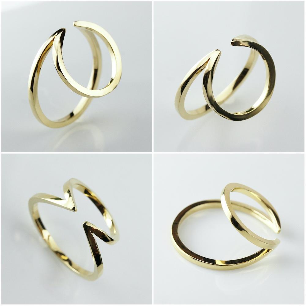 デュー 41 ダブル リング イヤーカフ シルバー925,DIEU Double Ring Ear cuff Silver 925