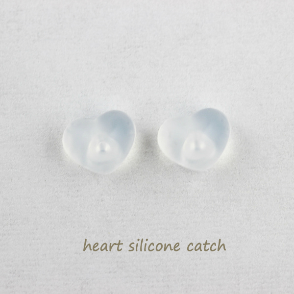 silicone Heart ピアスキャッチ