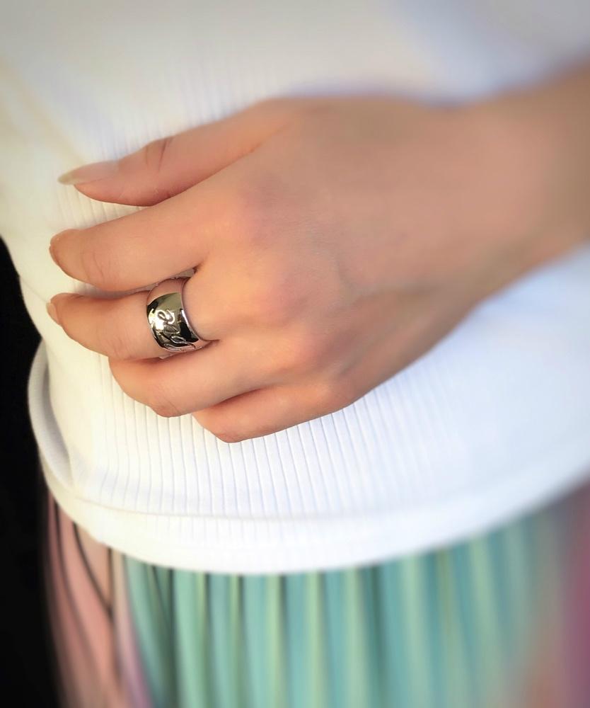 レデッサンドゥデュー 968 ラブ スター リング 太め ボリューム シルバー925,les desseins de DIEU Love Star Ring Silver925