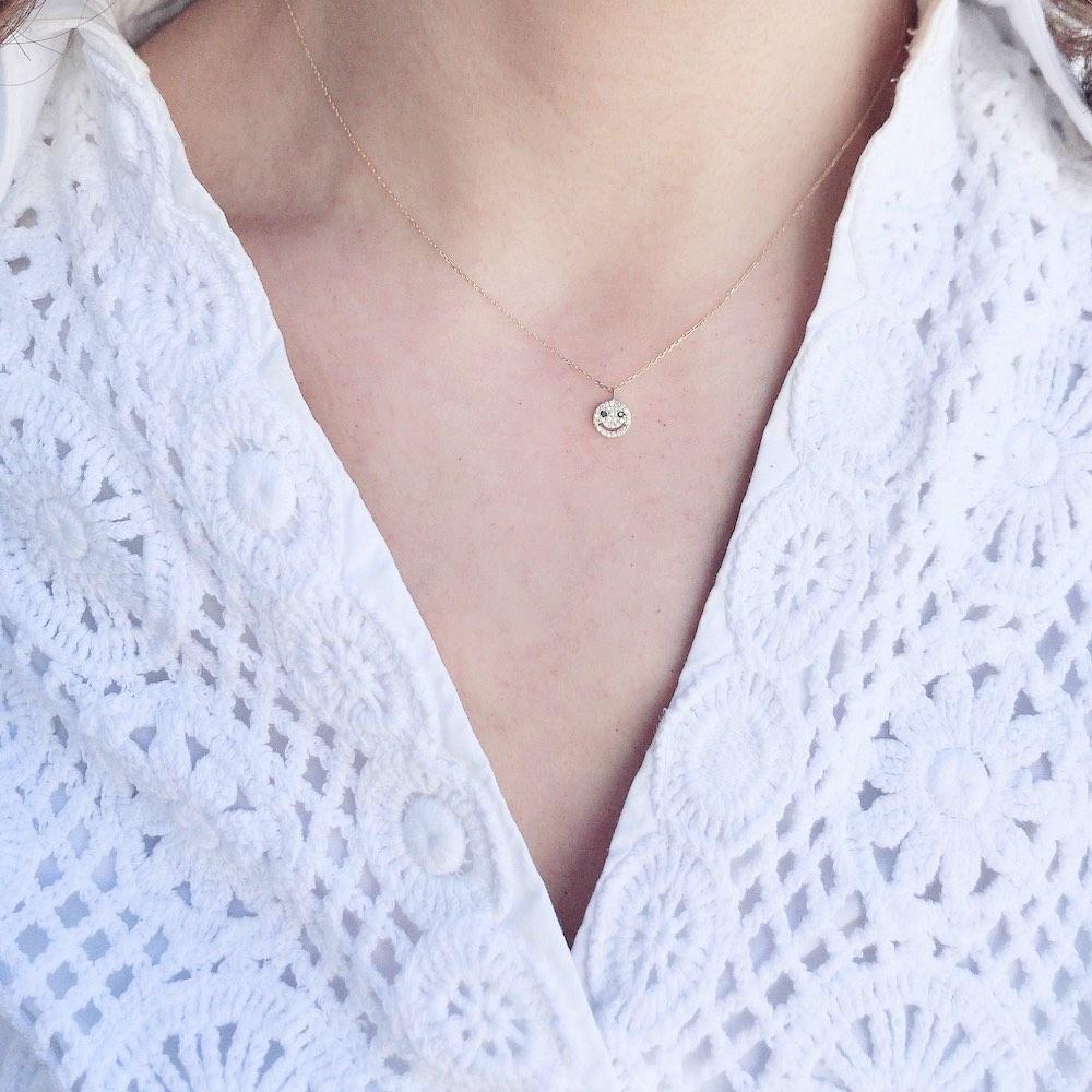 レデッサンドゥデュー 975 スモール スマイル ダイヤモンド ネックレス 18金,les desseins de DIEU Smile Diamond Necklace K18