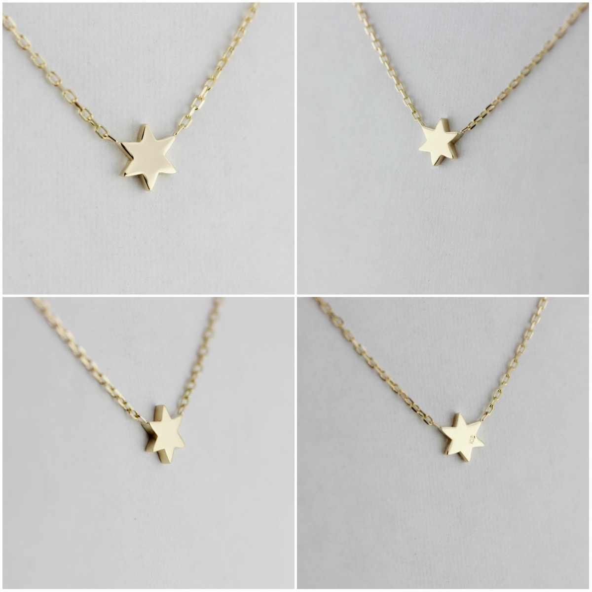 レデッサンドゥデュー 400 六芒星 ロクボウセイ ヘキサグラム ネックレス 18金,les desseins de DIEU Hexagram Necklace K18