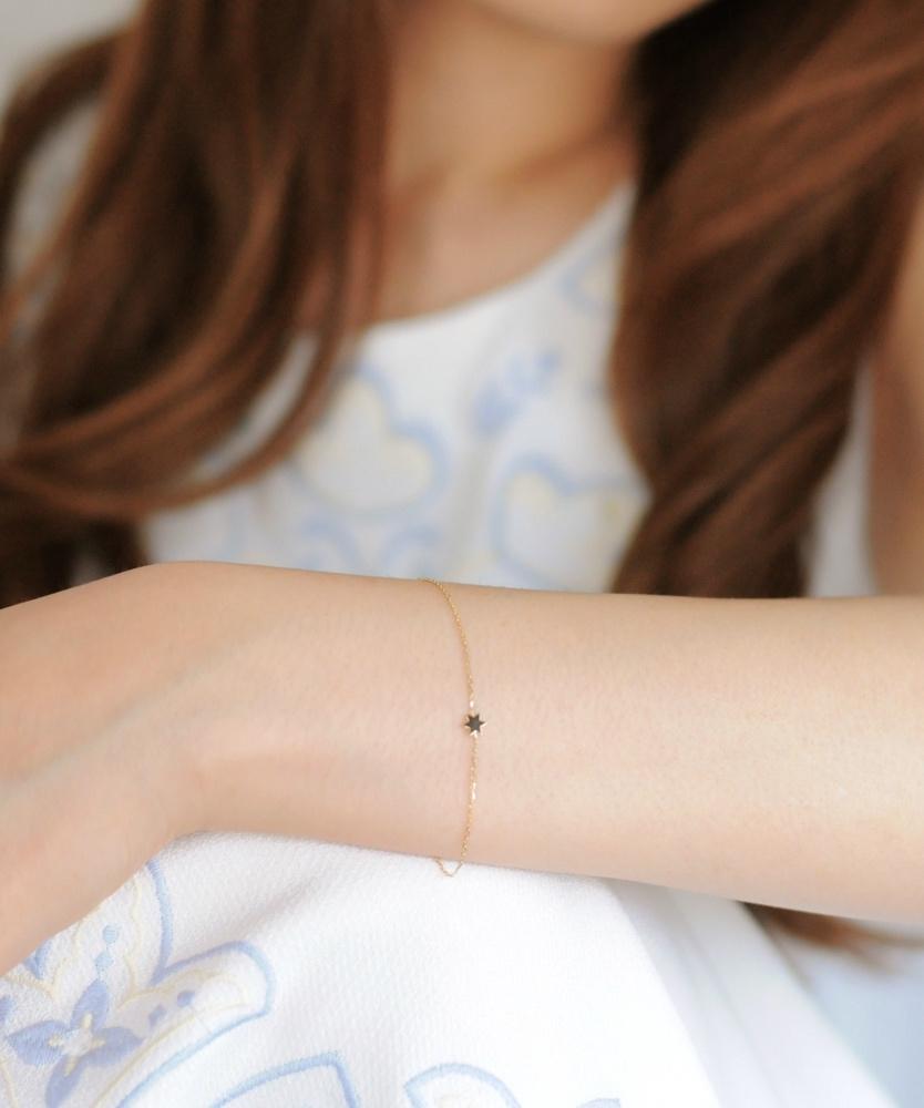 レデッサンドゥデュー 401 ヘキサグラム ロクボウセイ 六芒星 ブレスレット 18金,les desseins de DIEU Hexagram Bracelet K18