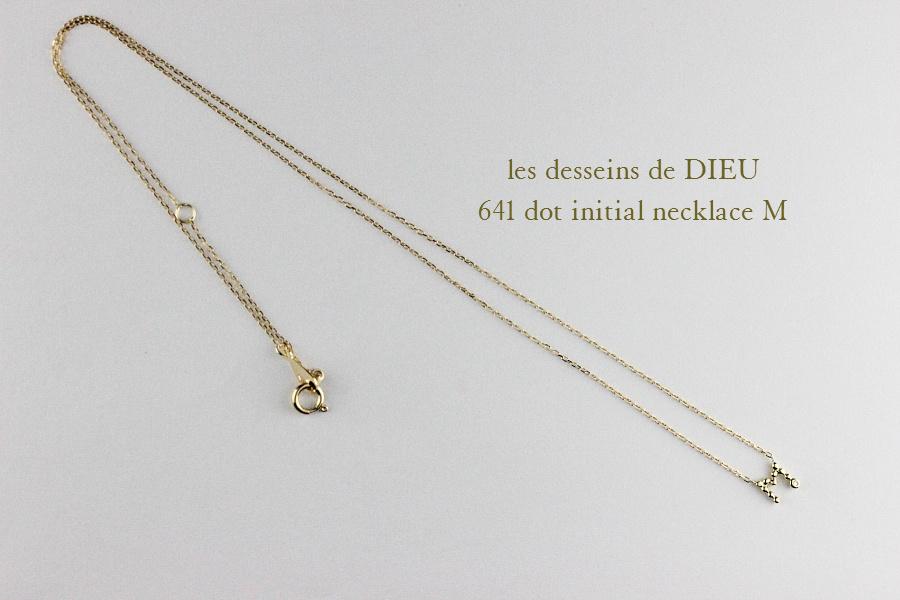 レデッサンドゥデュー 641 ドット イニシャル ダイヤモンド ネックレス 18金,les desseins de DIEU Dot Initial Diamond Necklace K18