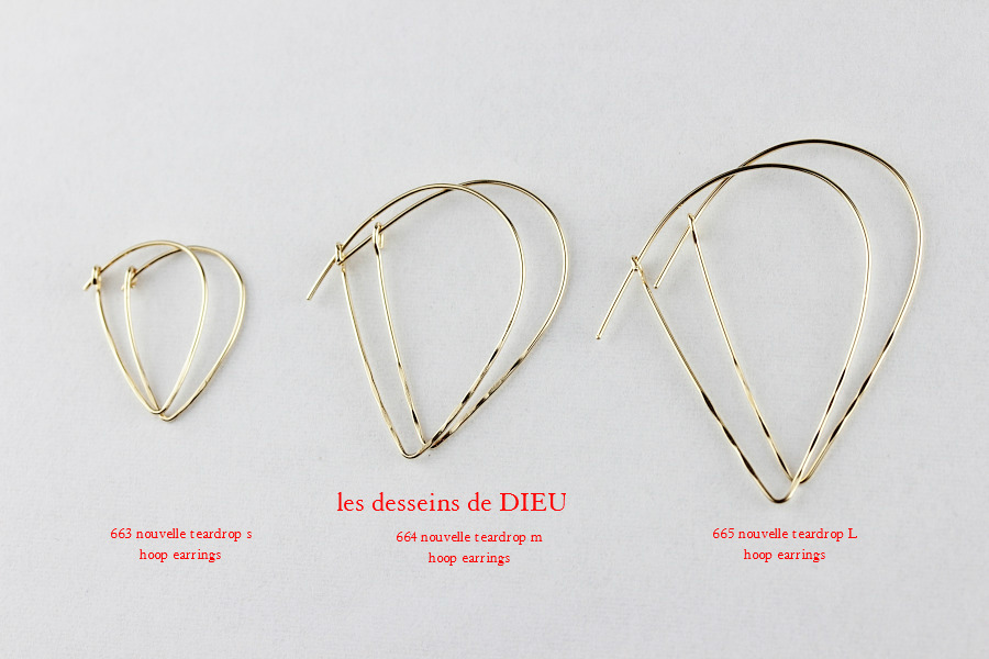 les desseins de DIEU Nouvelle Teardrop Hoop Earrings series レデッサンドゥデュー ヌーベル ティアドロップ フープ ピアス シリーズ