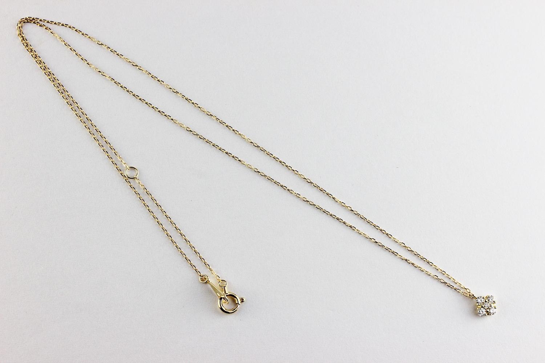 レデッサンドゥデュー 964 フローラ サンク ダイヤモンド 華奢ネックレス 18金,les desseins de DIEU Flora Cinq Diamond Necklace K18