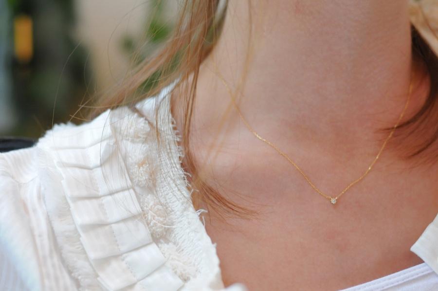 ピナコテーカ 8本爪 一粒ダイヤモンド ネックレス 0.05ct 人気 プレゼント オススメ お洒落なブランド 18金 華奢,pinacoteca K18 Necklace