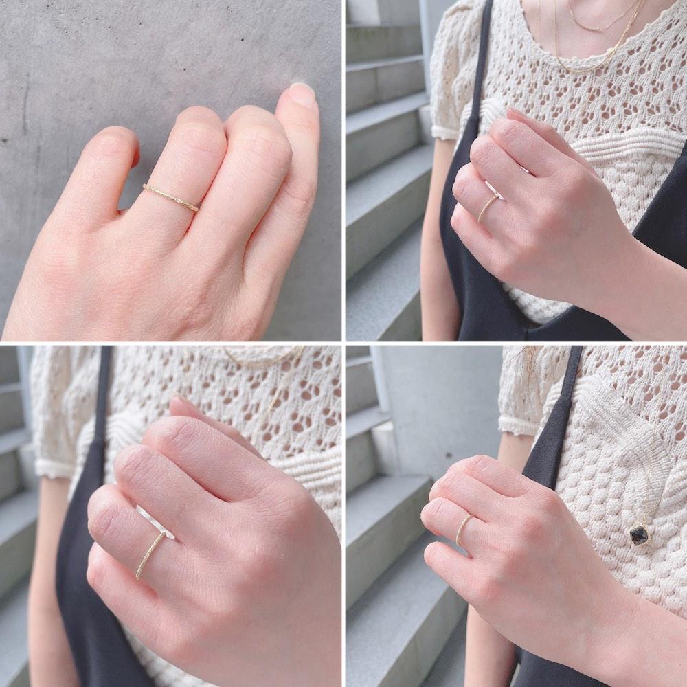ピナコテーカ 375 ラメ ダイヤモンド 華奢 リング 18金,pinacoteca Lame Diamond Ring K18