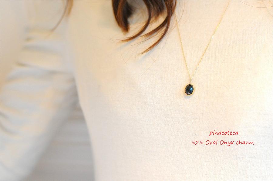 ピナコテーカ 525 オーバル ブラック オニキス チャーム 18金,pinacoteca 525 Oval Onyx Charm K18