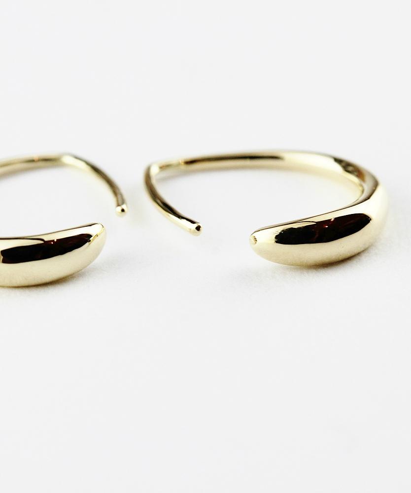 ピナコテーカ 708 シンプリー ゴールド フープ 華奢ピアス 18金,pinacoteca Simply Gold Hoop Earrings K18
