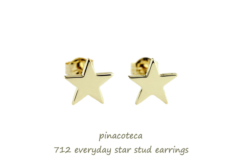 ピナコテーカ 712 エブリデイ スター スタッド ピアス 18金,pinacoteca Everyday Star Stud Earrings K18