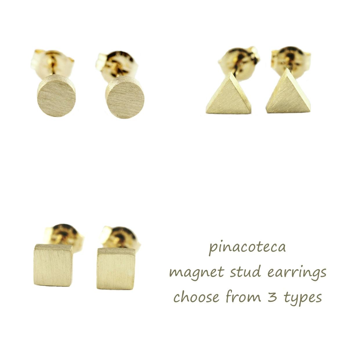 ピナコテーカ 717 ラウンド マグネット スタッド ピアス 18金,pinacoteca Round Magnet Stud Earrings K18