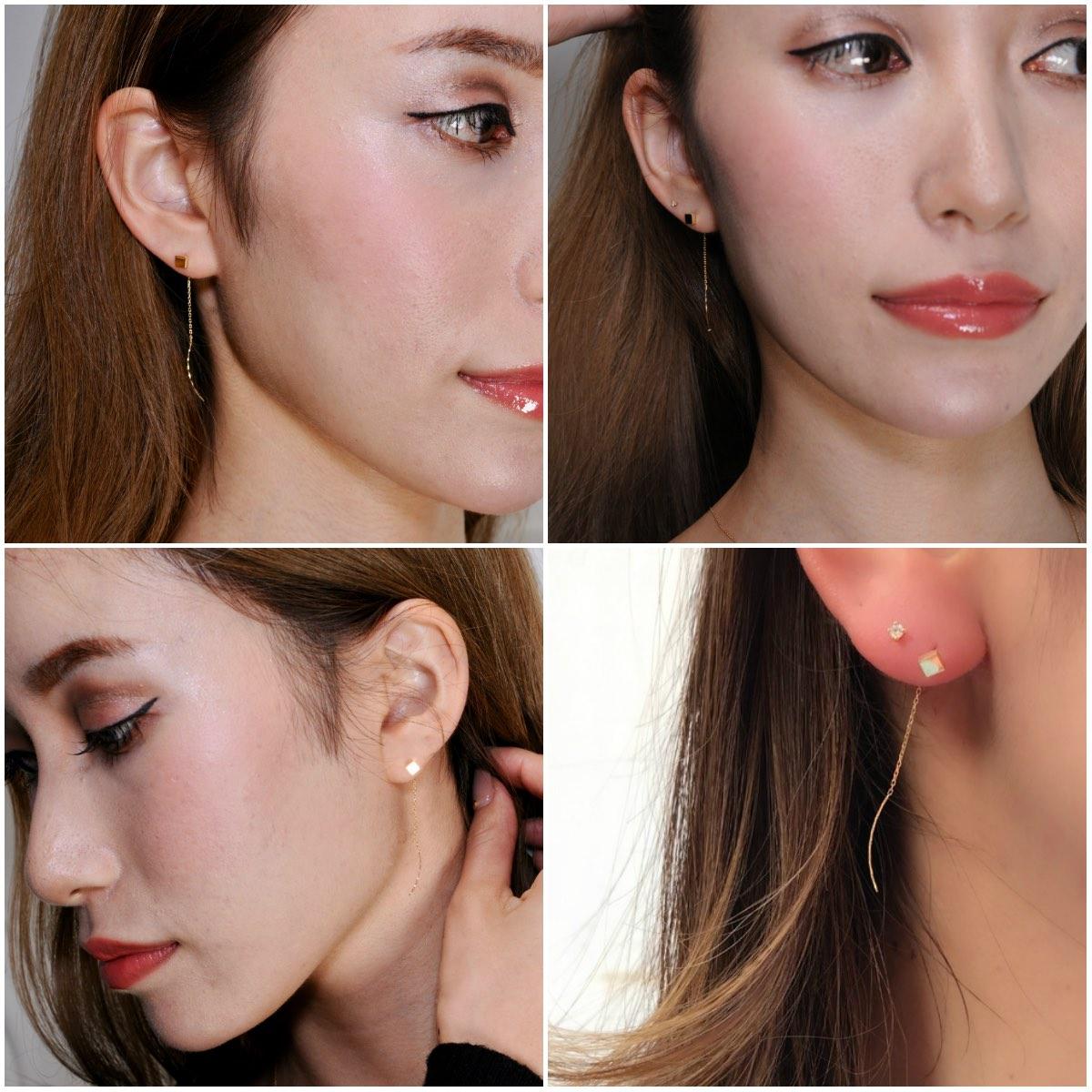 ピナコテーカ 722 スクエア マグネット スタッド アメリカン ピアス 18金,pinacoteca Square Magnet Stud American Earrings K18