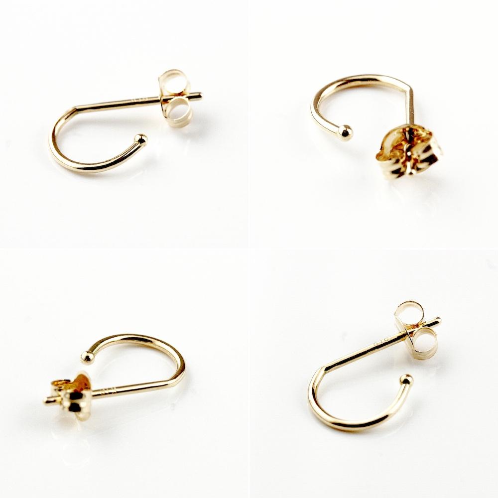 ピナコテーカ 749 タイニー 極小 シンプル フープピアス S 18金 片耳 ,pinacoteca Tiny Hoop S Earring K18